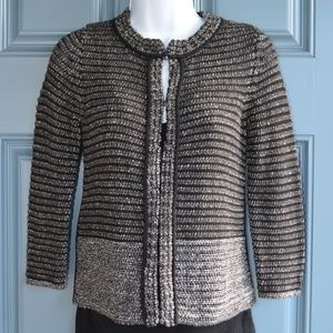 NWT Grey Cotton Cardigan by Loft Petites Sz. XXS.